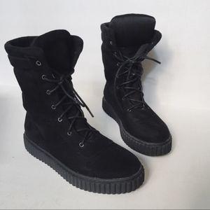 Shoes - Basic Black faux suede boots